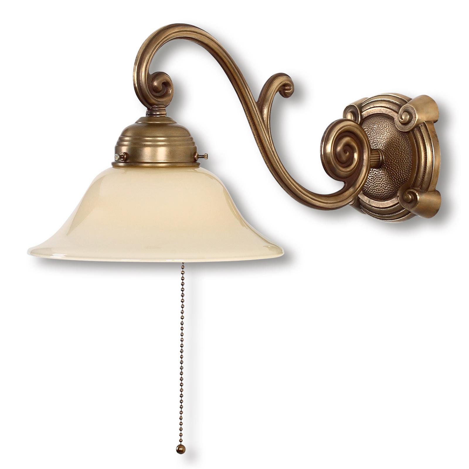 Lampada da parete Ella in ottone stile antico