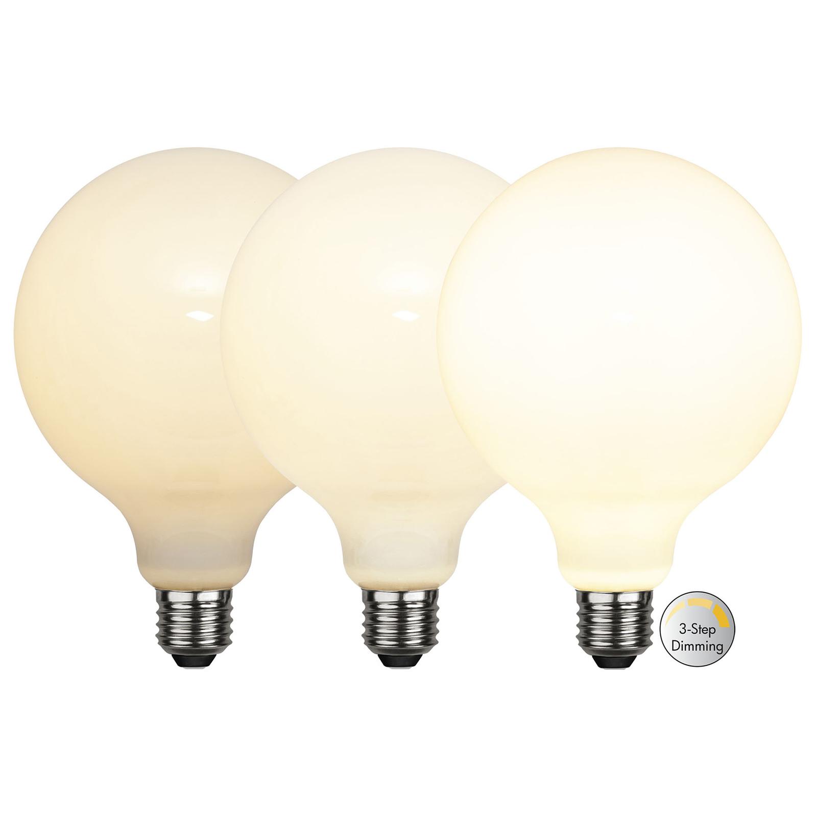LED-Globelampe E27 G125 7,5W 3-step-dim, opal