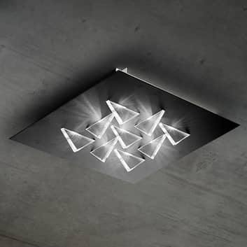 Połyskująca lampa sufitowa LED Cristalli