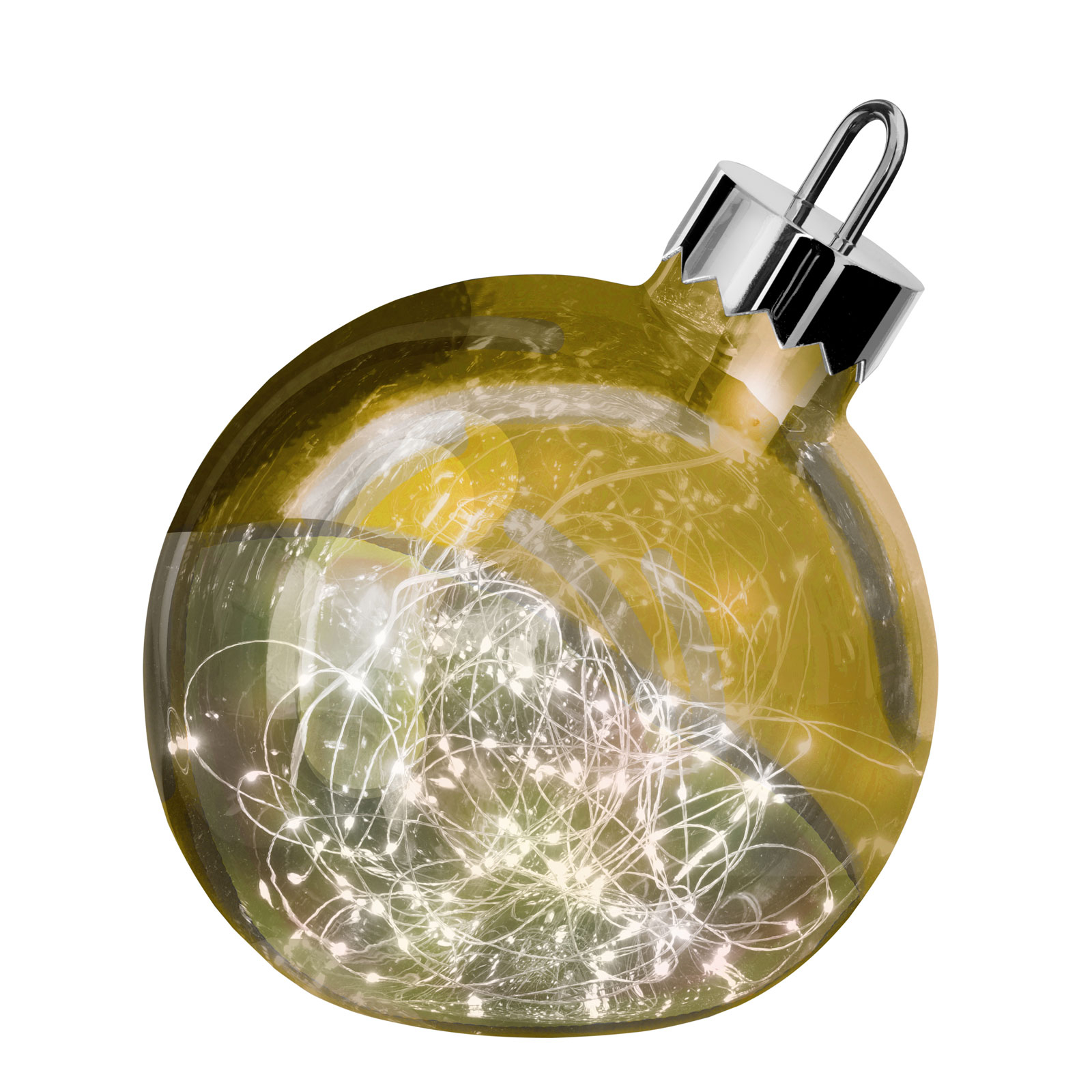 Ornament decorative light, gold, 30 cm diameter