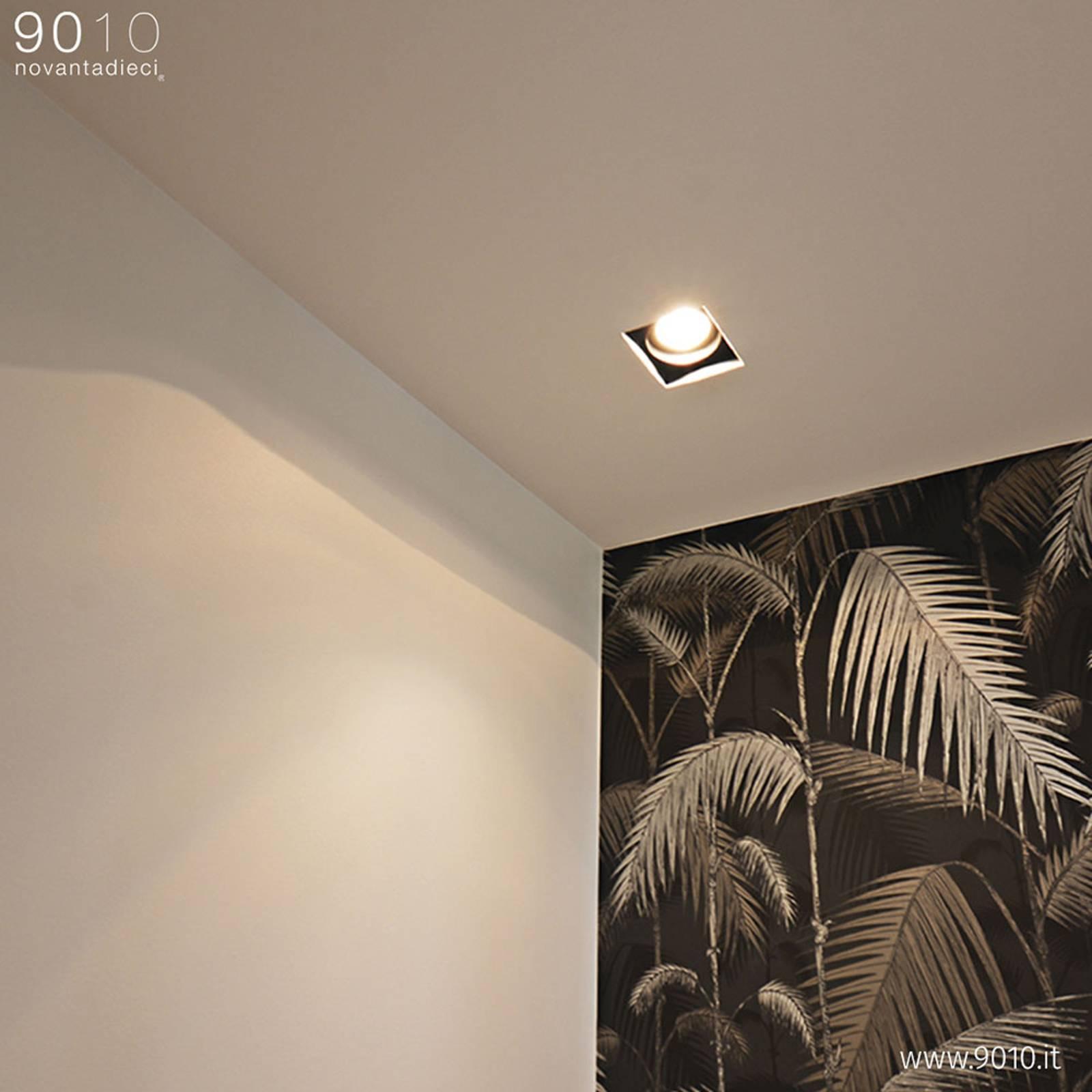 Bilde av Innbygget Taklampe 4246a, Firkantet, 15x15 Cm