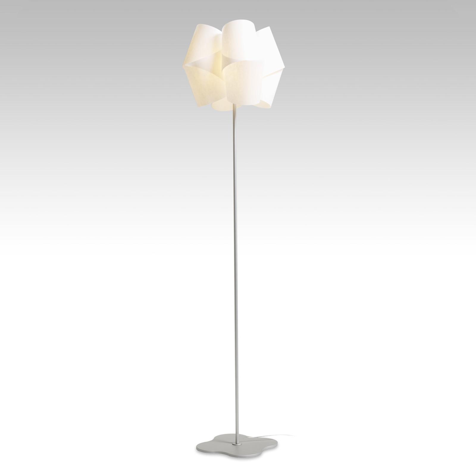 Lámpara de pie Julii, base de aluminio