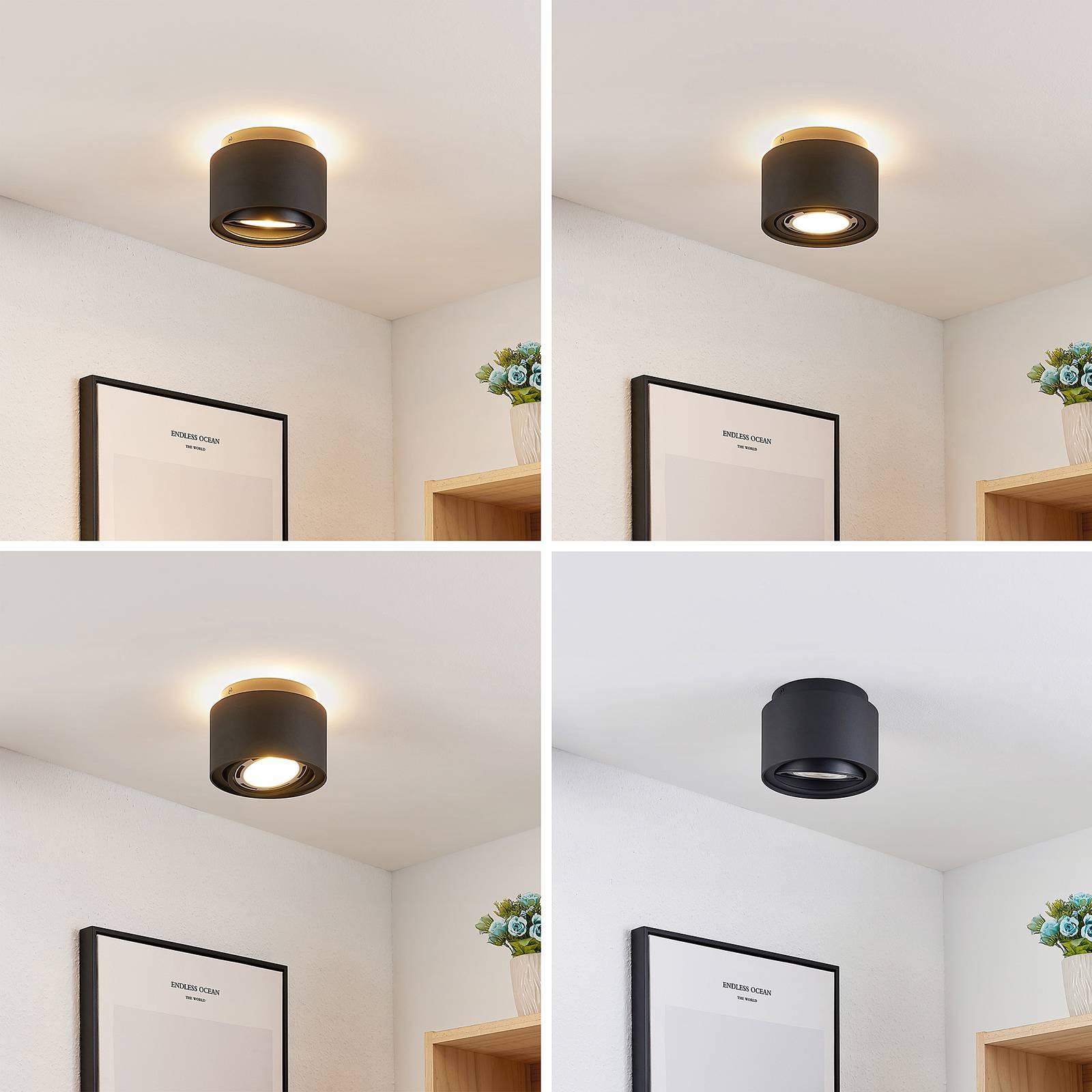 Arcchio Talima LED plafondlamp, rond, zwart