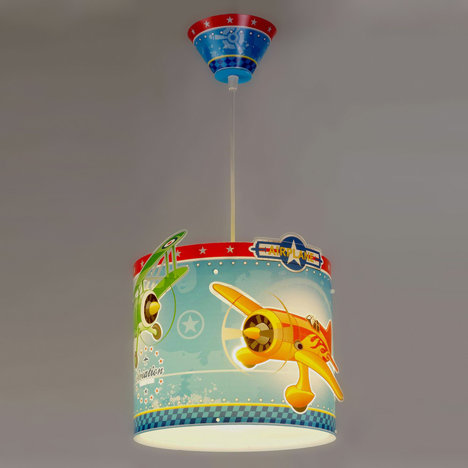 Airplane - taklampa med flygplan