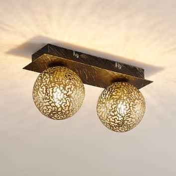 Lucande Evory plafondlamp, hoekig, 2-lamps