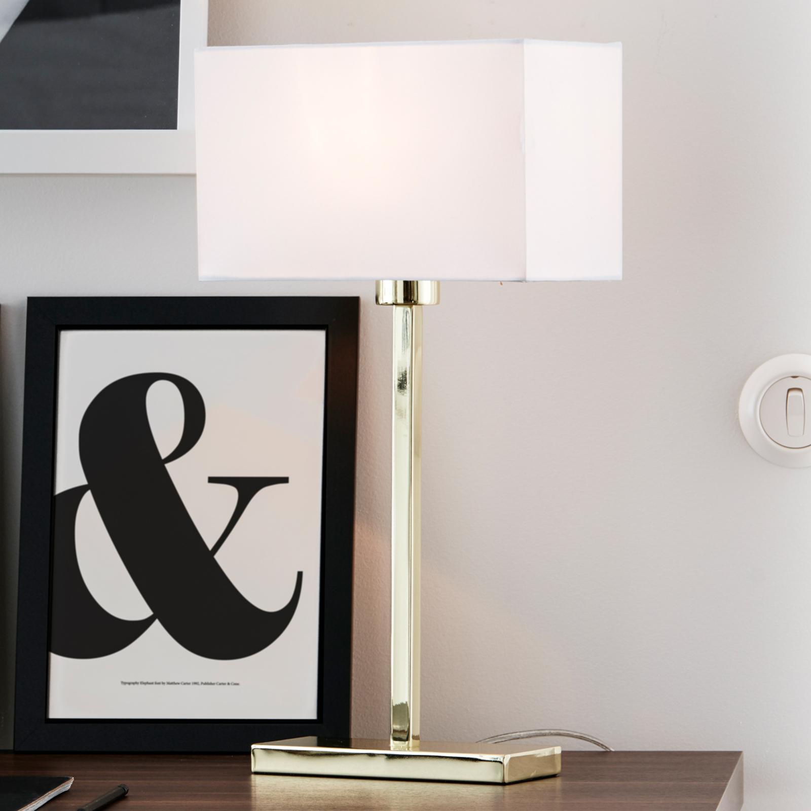 Rechtlijnig vervaardigde tafellamp Savoy USB