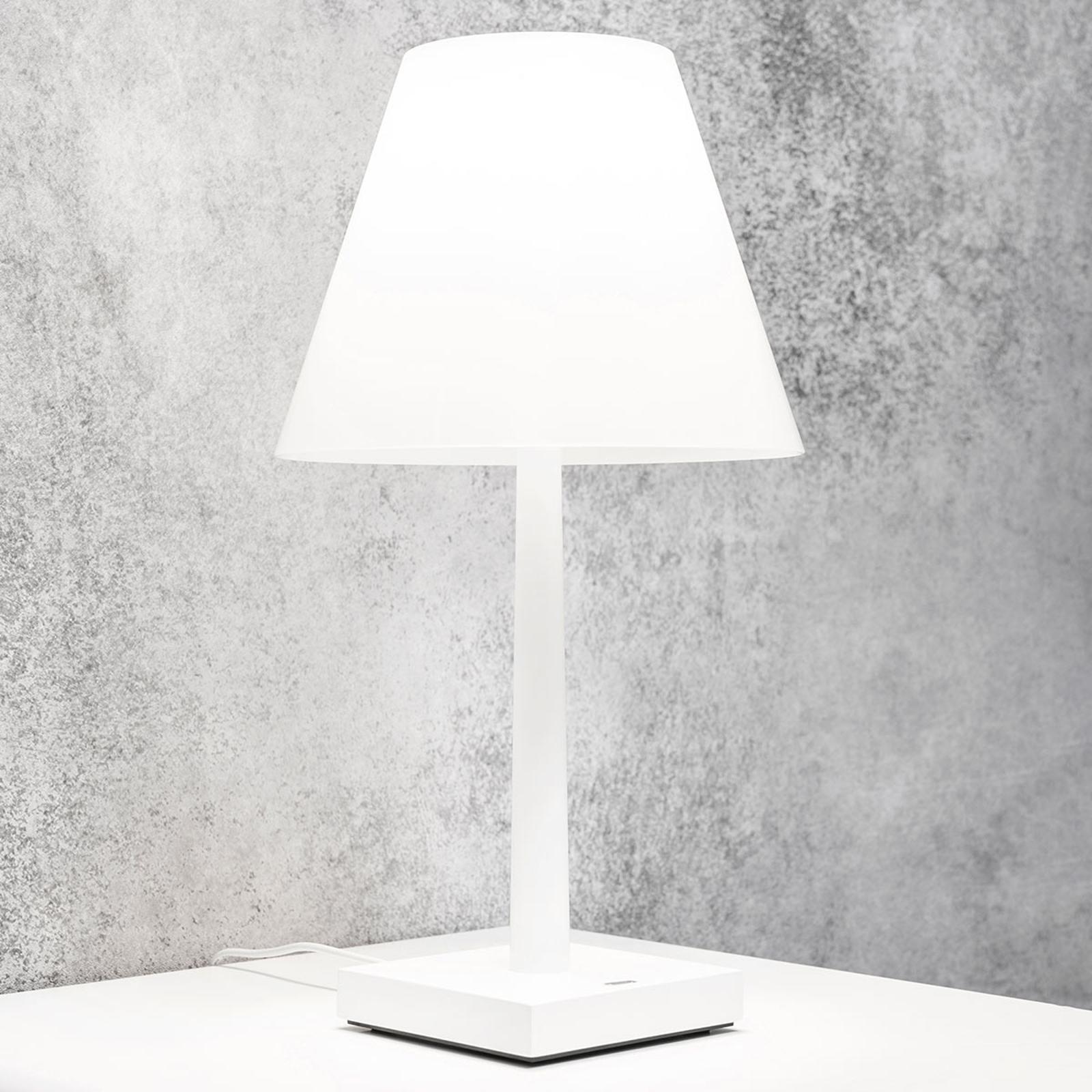 Rotaliana Dina+ LED-Akkutischleuchte weiß/weiß