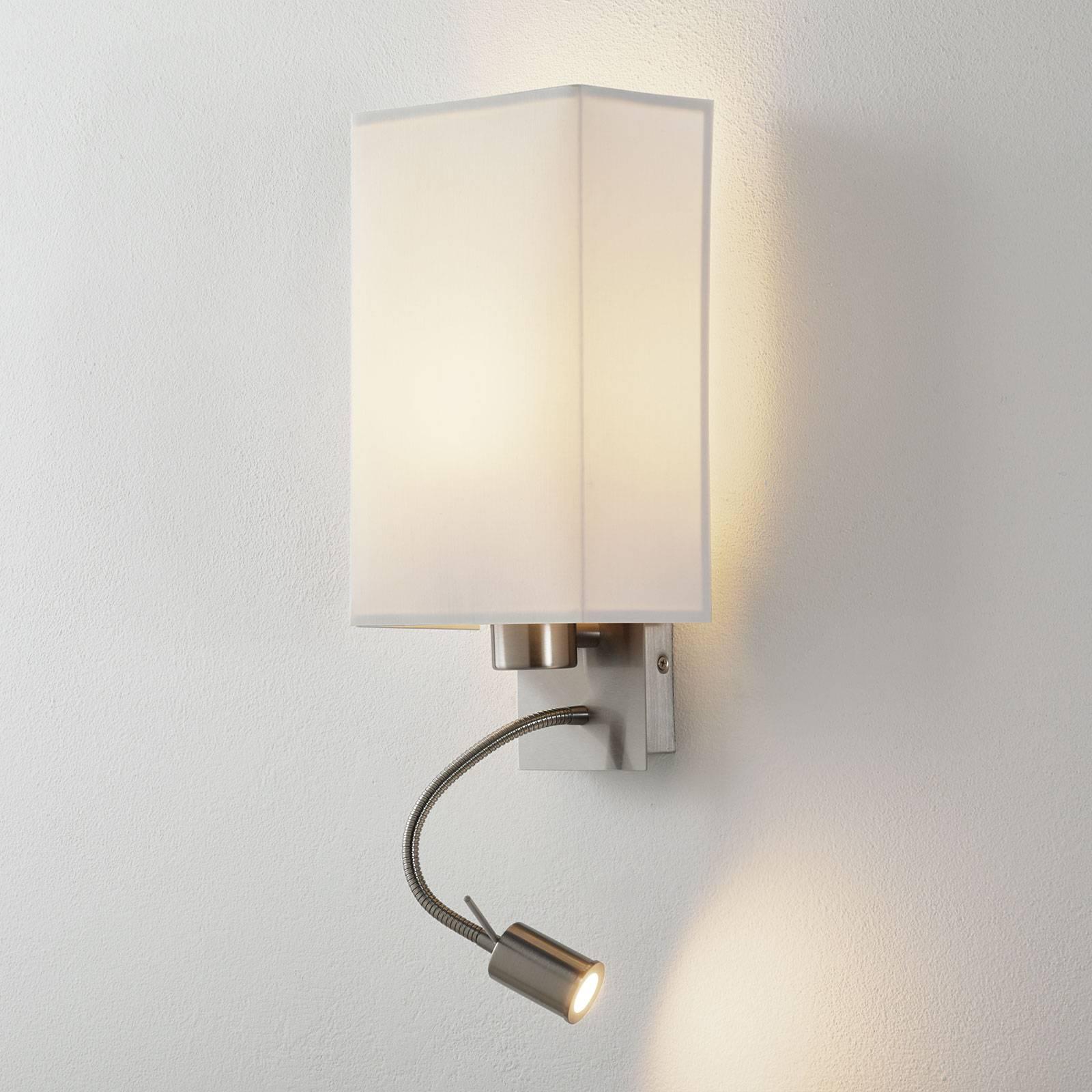 Lucande Patrik wandlamp leeslamp hoekig wit
