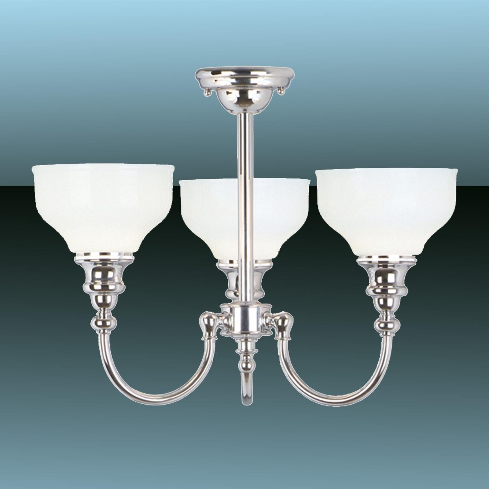 Plafondlampa Cheadle för badrum, tredelad