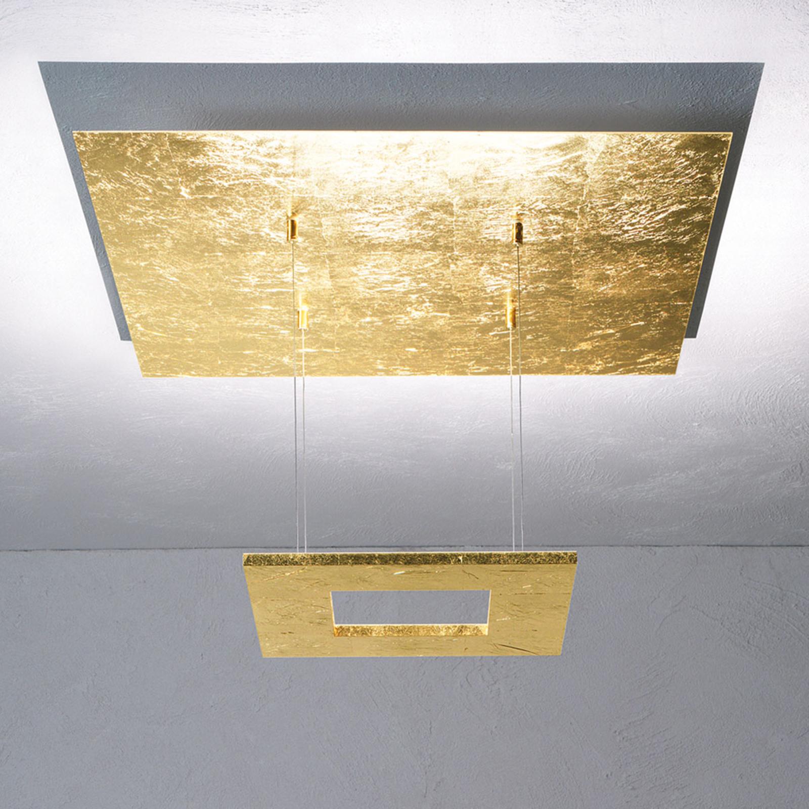 Escale Zen - Bladguld-LED-hänglampa
