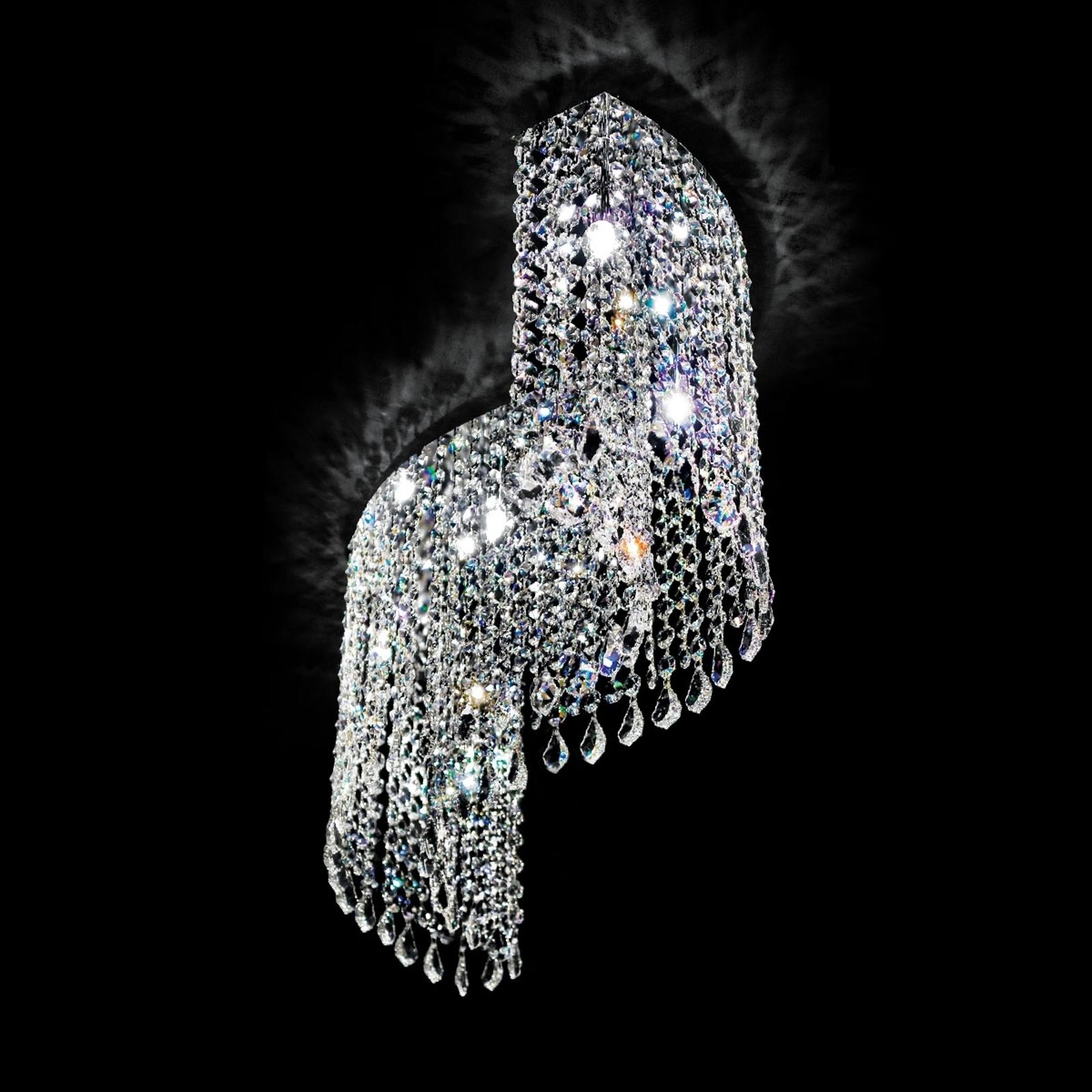Geschwungene Kristalldeckenleuchte Shine