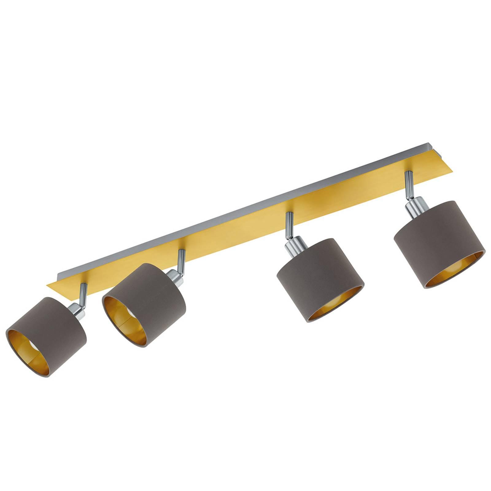 Plafondlamp Valbiano Cappuccino/Gold vier lampjes