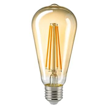 LED-lampa E27 ST64 4,5W Filament Rustika guld