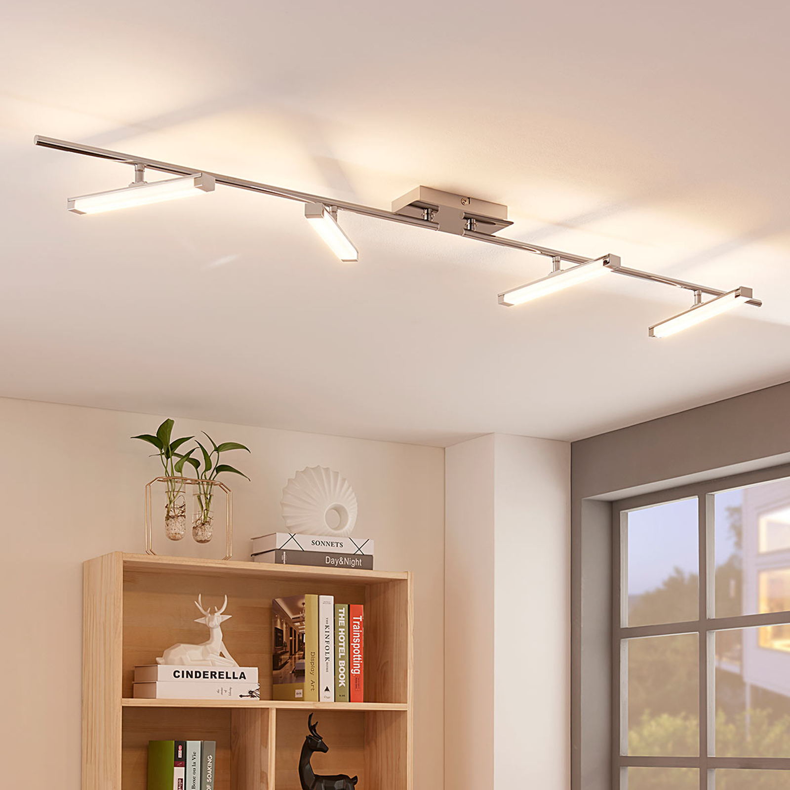 Pilou - lámpara LED de techo, 4 brazos, atenuable