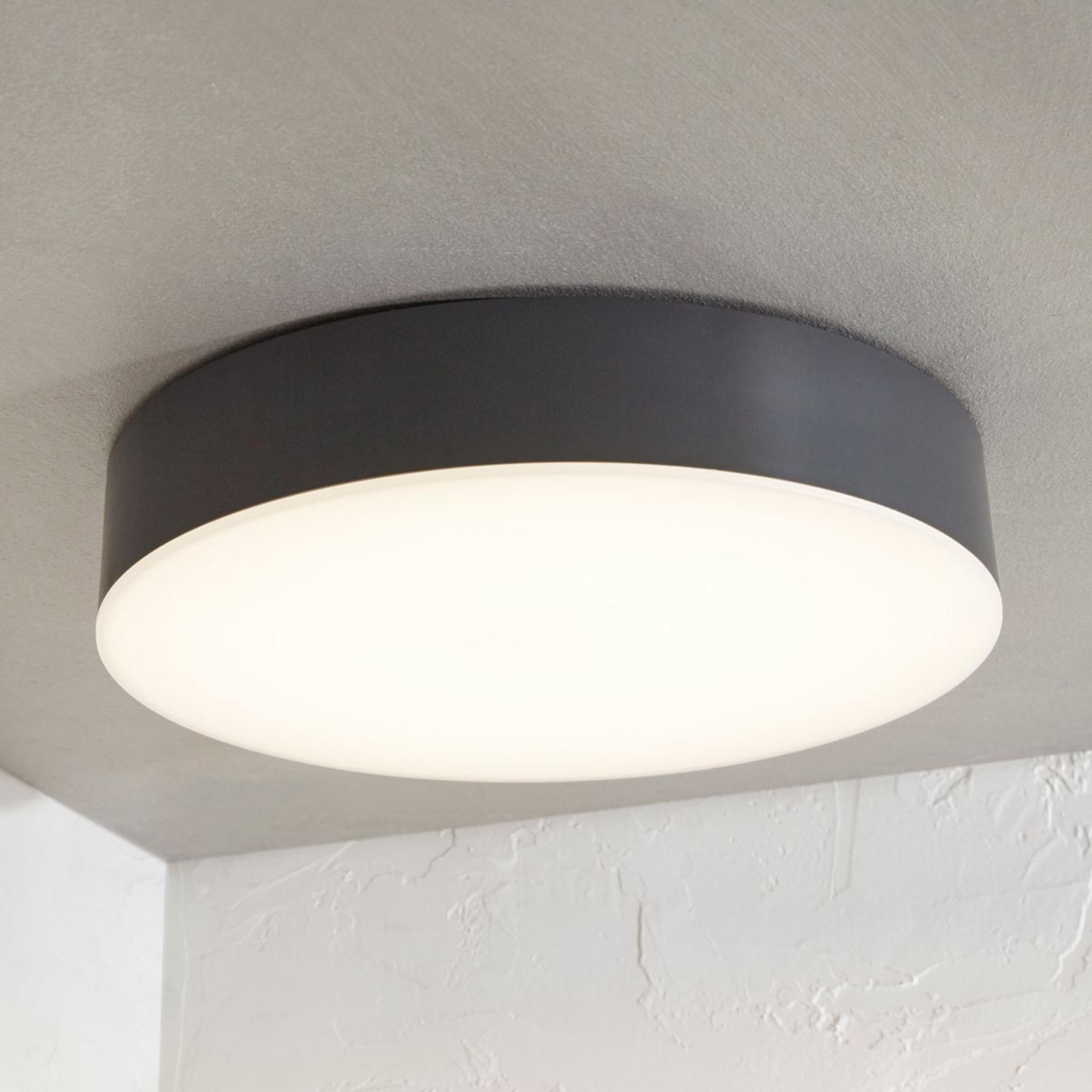 LED-Außendeckenlampe Lyam, IP65, dunkelgrau