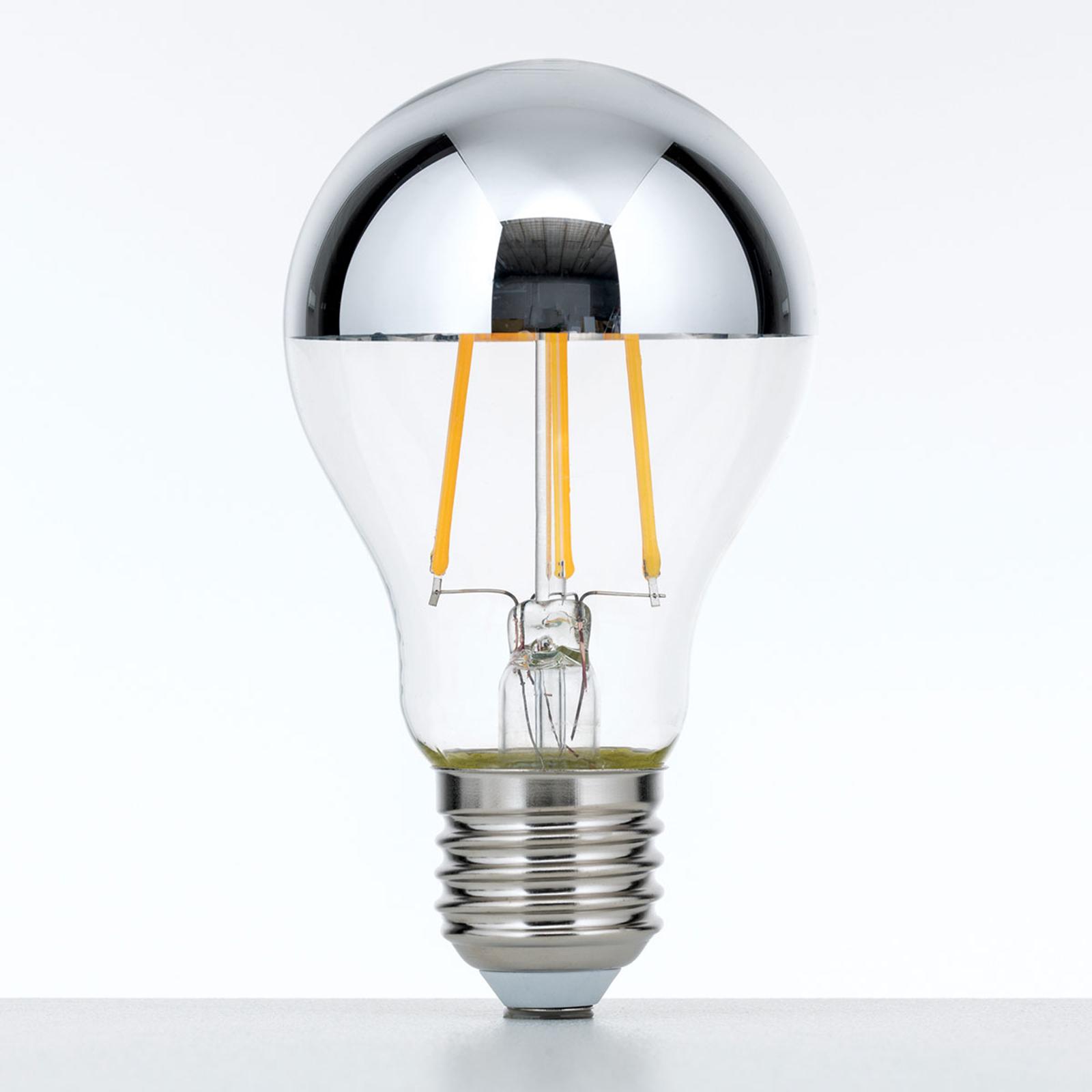 Topforspejlet LED-pære E27 7W varmhvid, dæmpbar