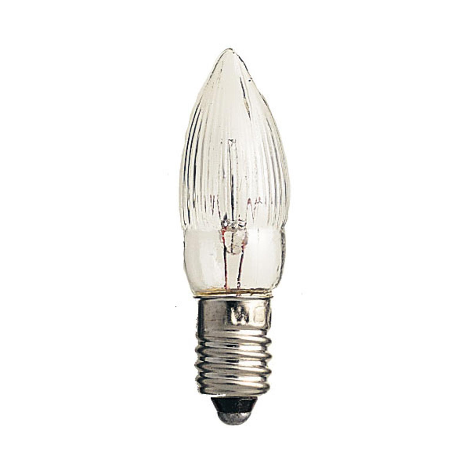 E10 3W 23V reservlampor 3-pack ljusform