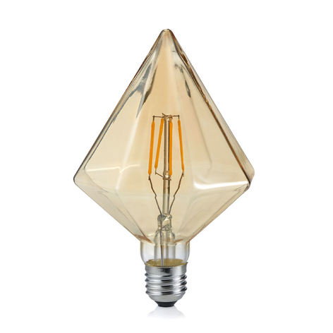 E27 4W lampadina LED 2.700K Diamante ambra