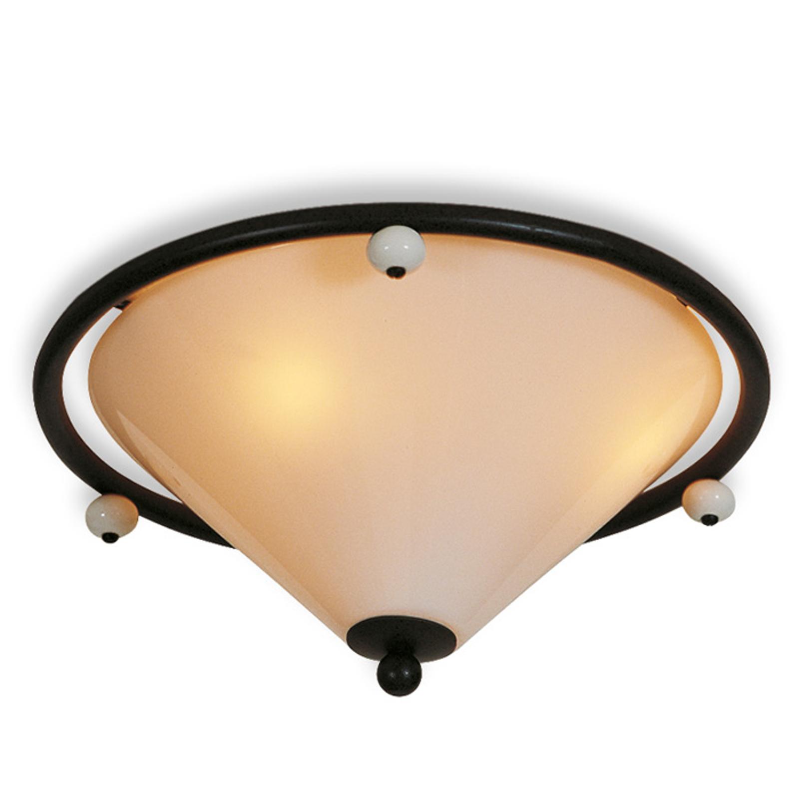 Røgfarvet Scavo-glas-skærm - loftslampen Provence