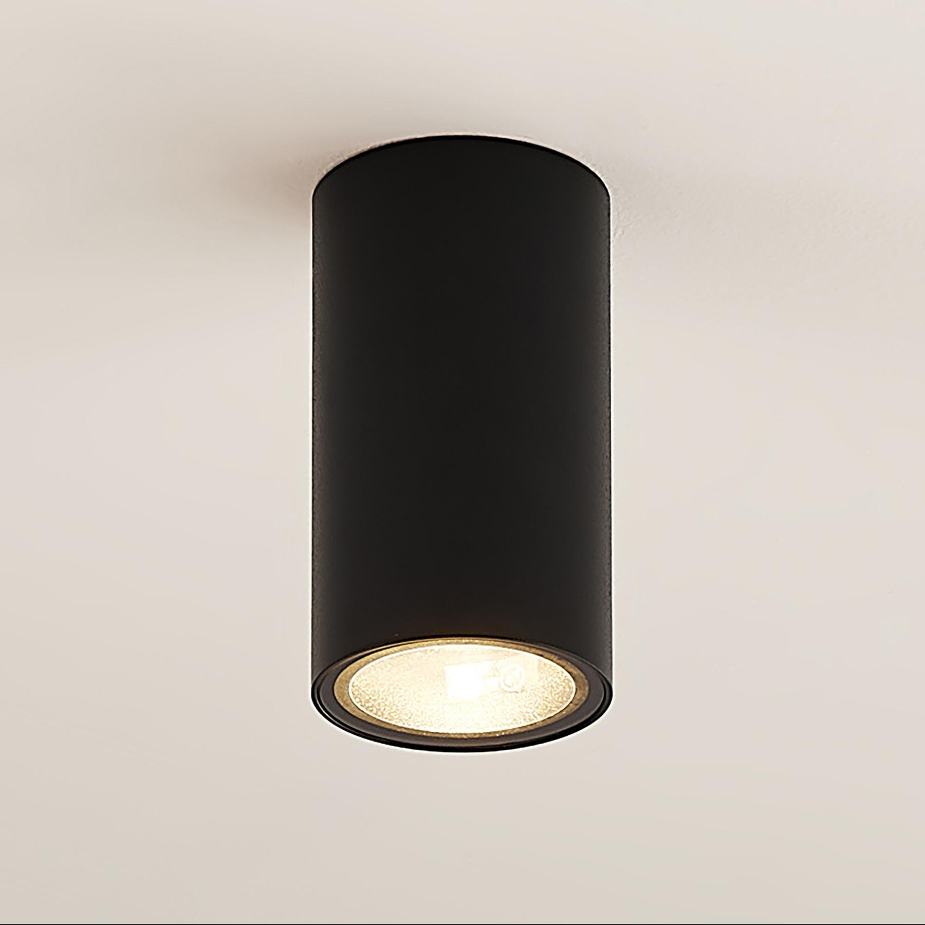 Arcchio Olivir Downlight, rond, GU10, zwart