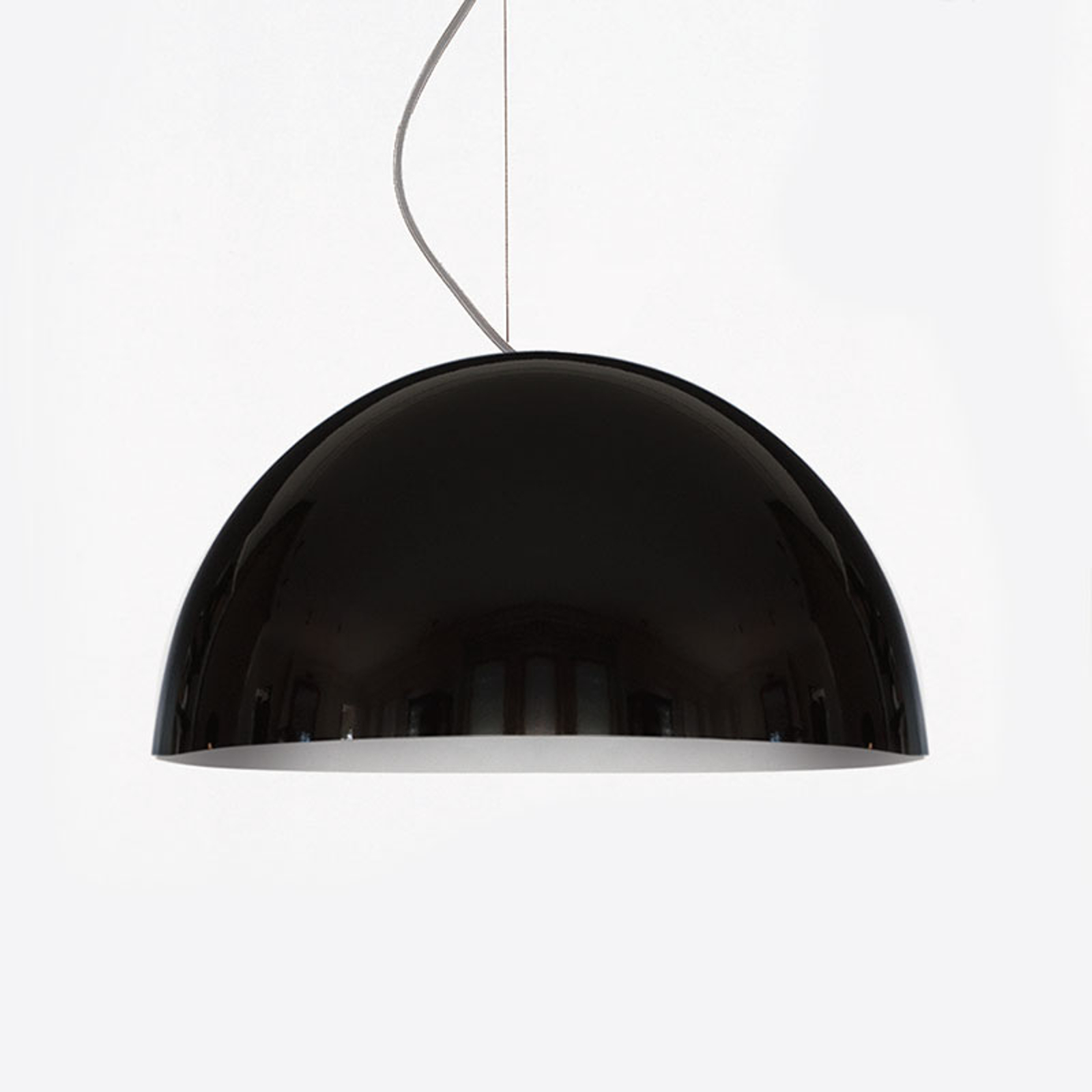 Oluce Sonora - suspension noire, 38 cm