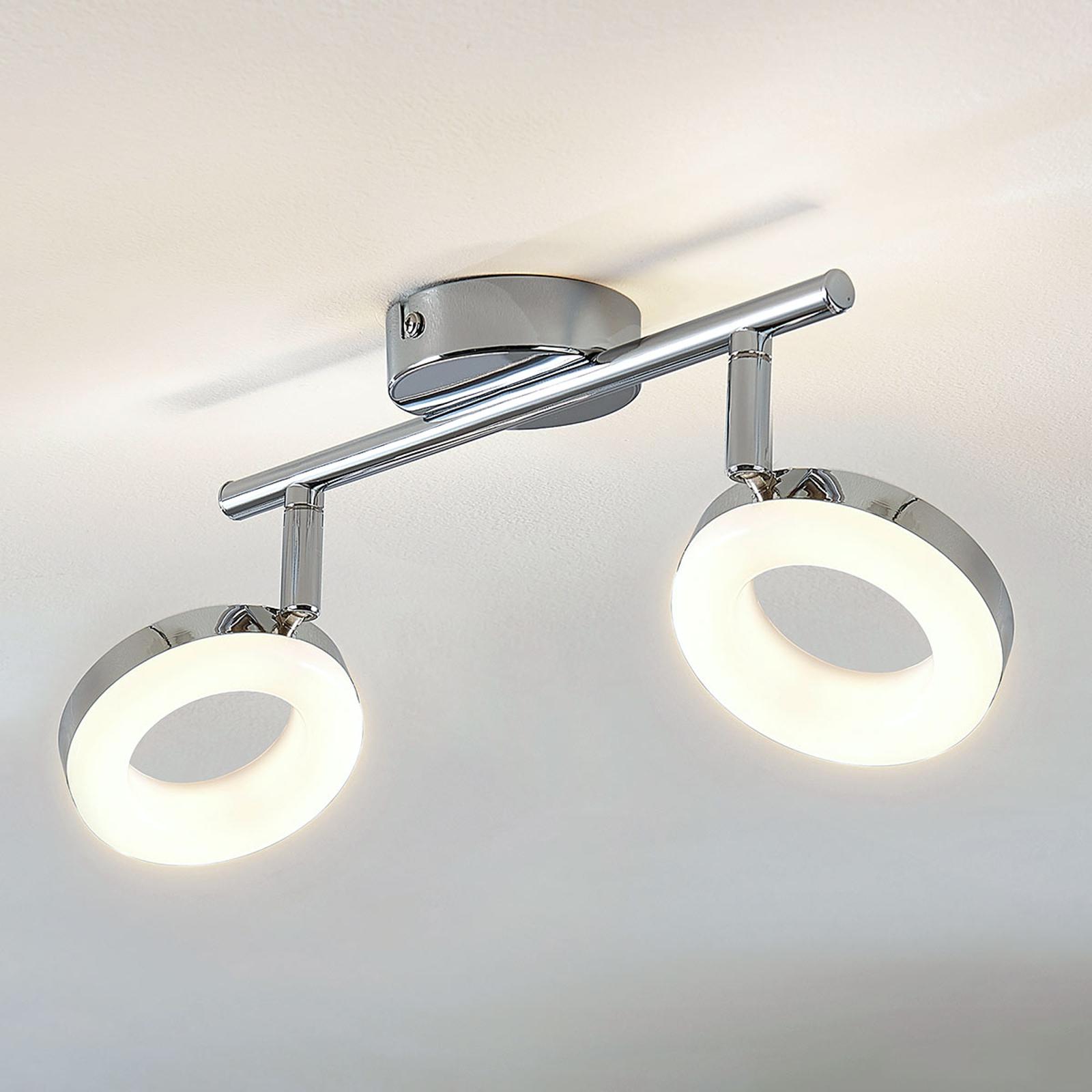 LED-taklampe Ringo 2 lyskilder