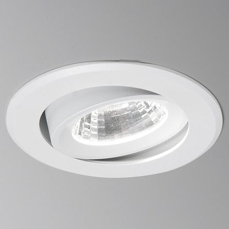 LED-uppospotti Agon Round 3000K, 40°, valkoinen
