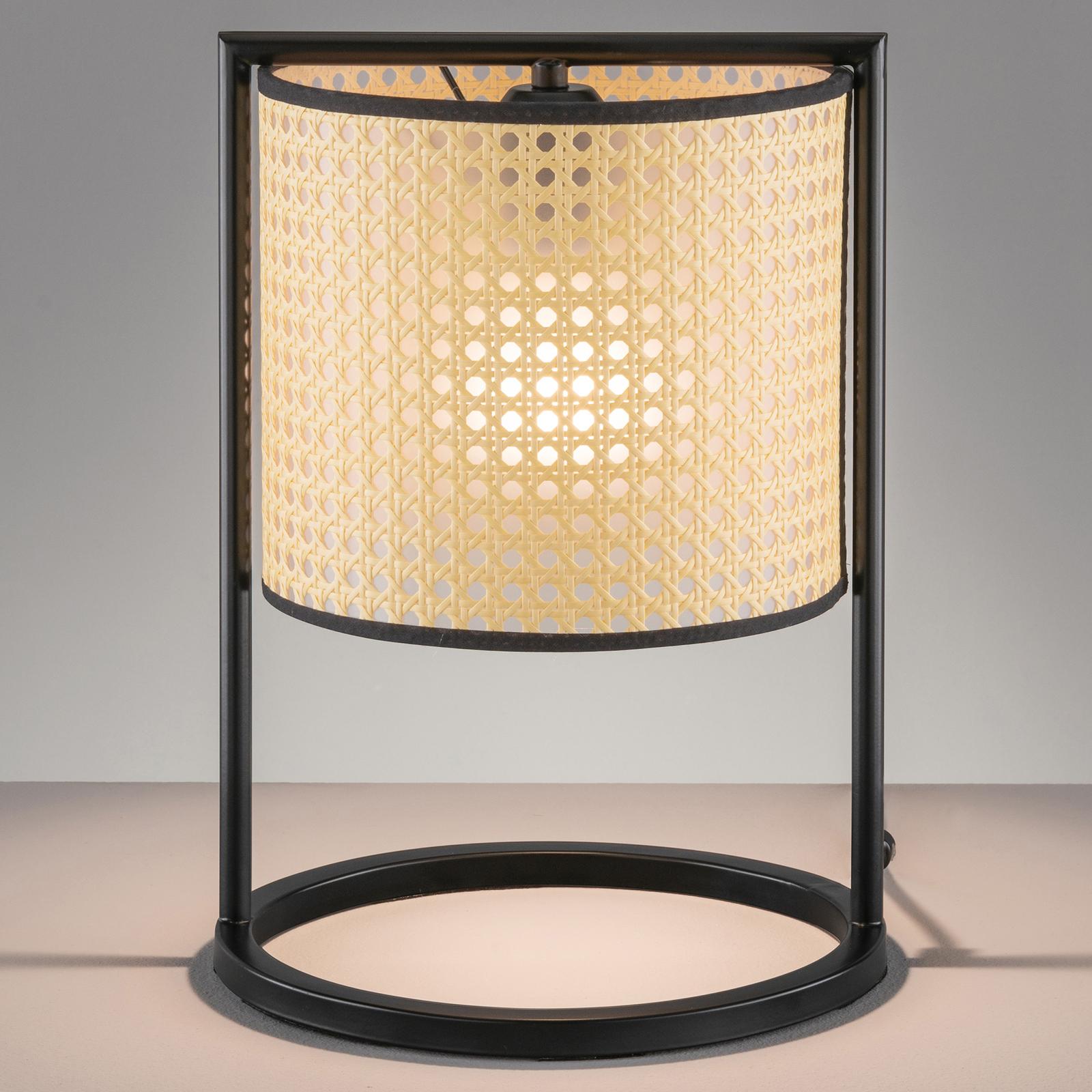 Lampa stołowa Tyler o wyglądzie plecionki, 36 cm