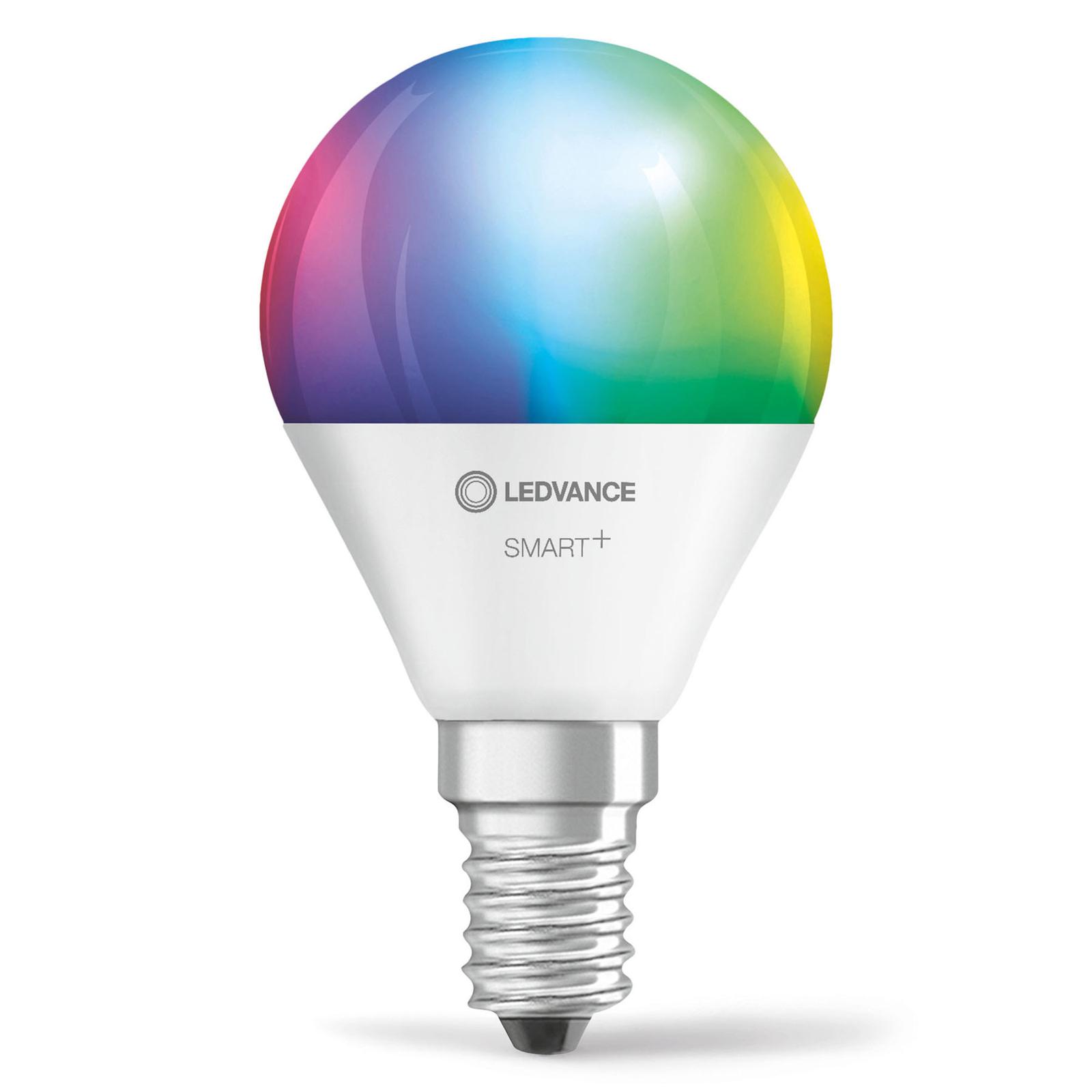 LEDVANCE SMART+ WiFi E14 5W dråpepære RGBW