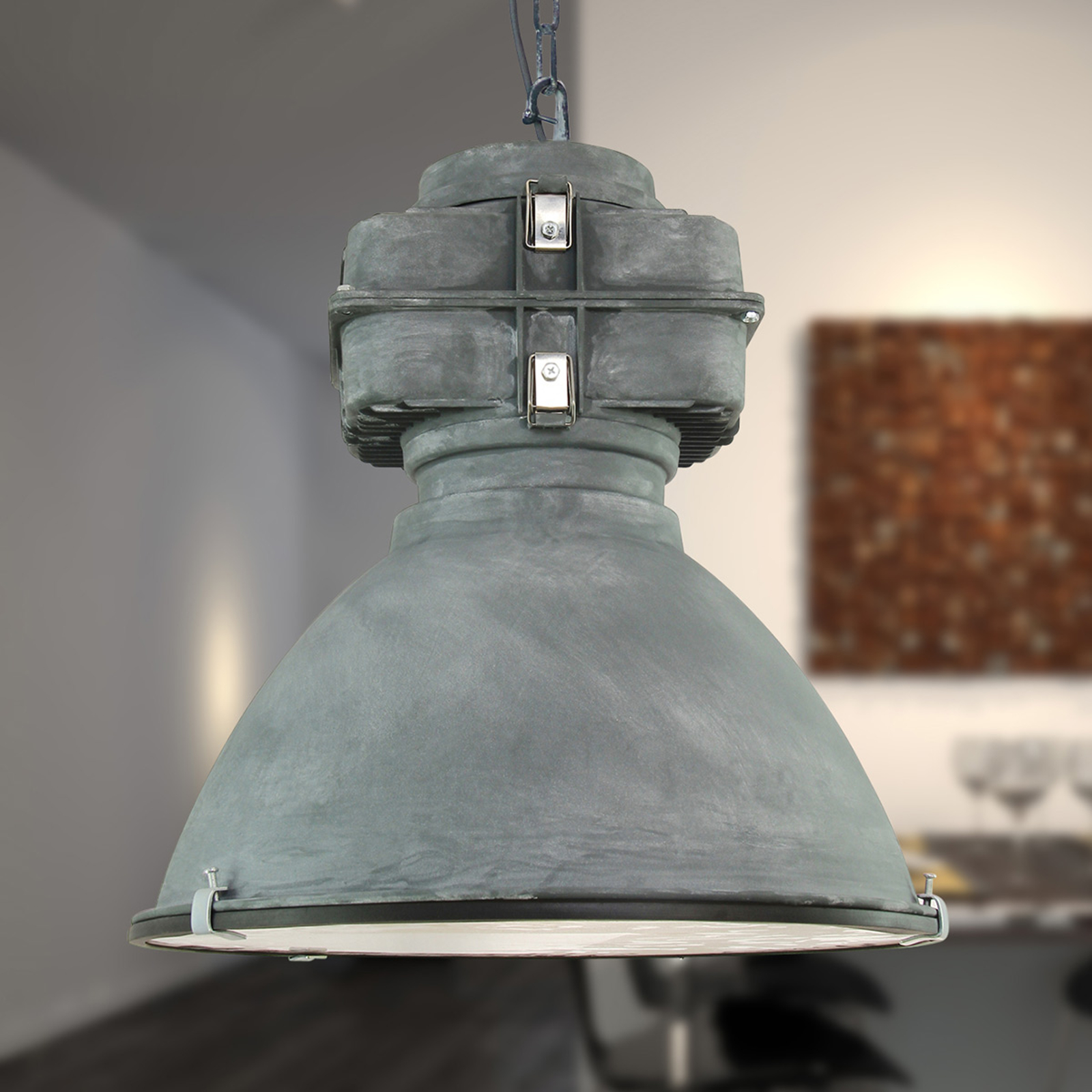 Anouk - vintage-taklampa med glasdiffusor