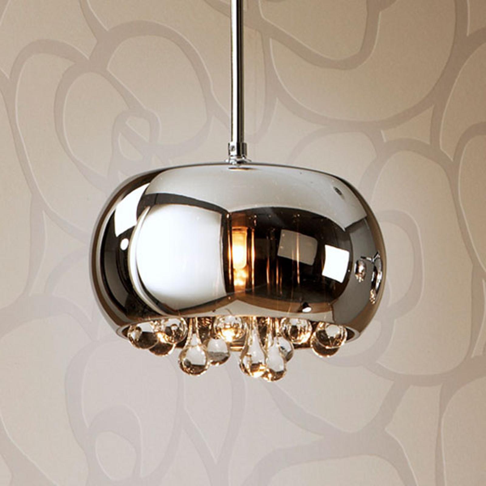 Lampa wisząca LED Argos kryształowe krople Ø 22cm