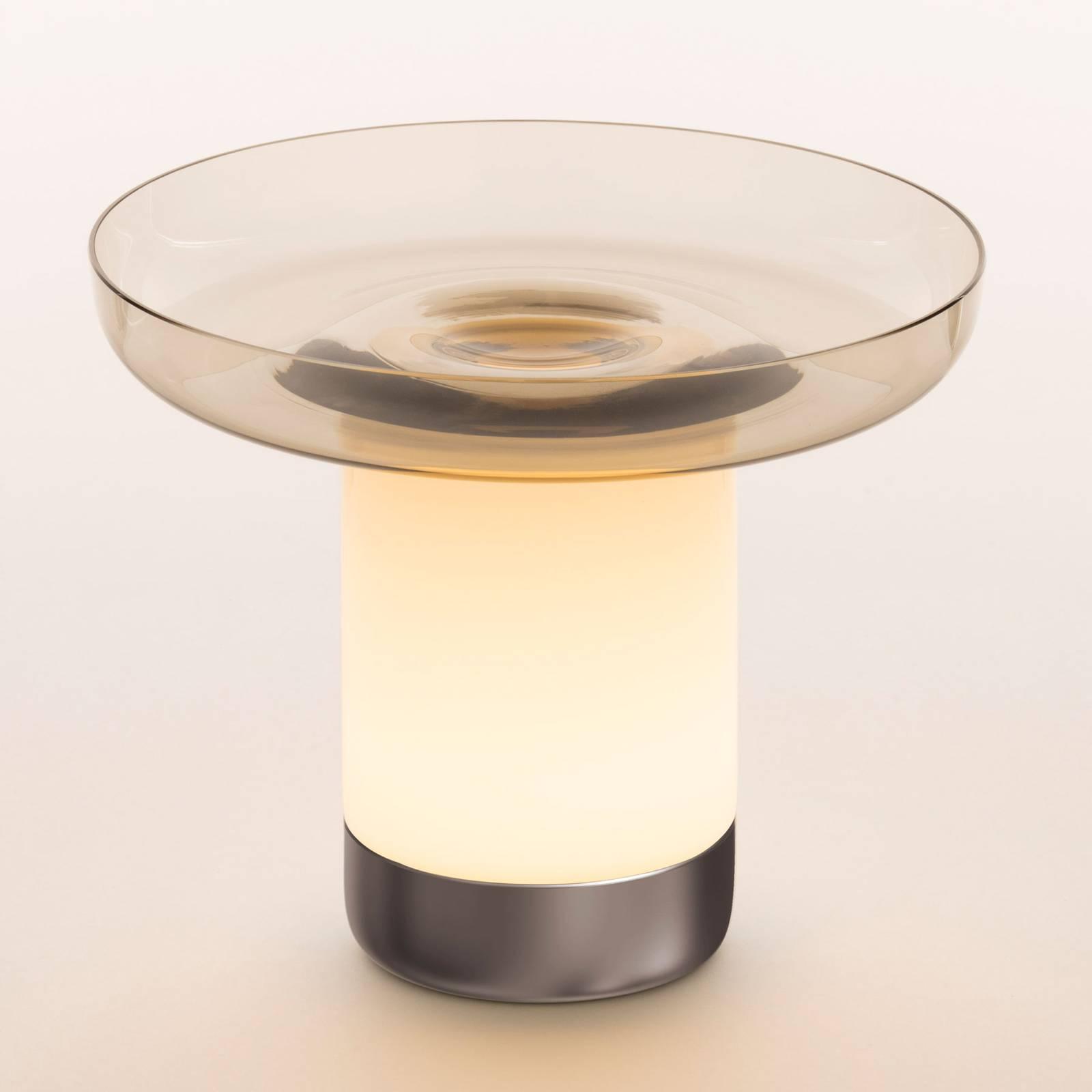 Artemide Bontà LED-Tischleuchte, graue Schale