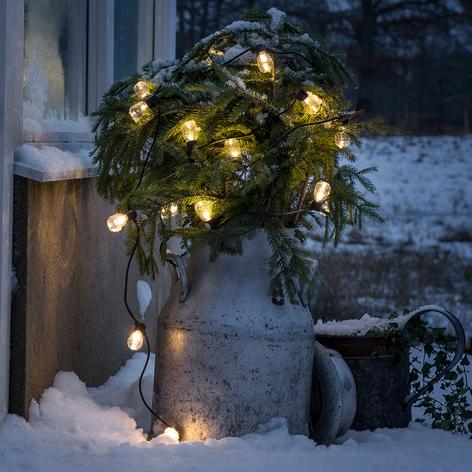 Catena luminosa Biergarten 40 luci bianco caldo