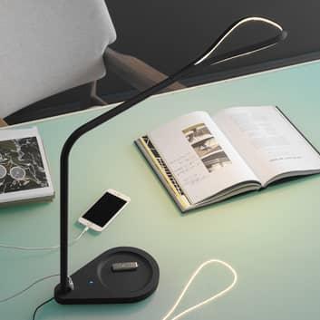 Fontana Arte Kinx LED-Schreibtischlampe, schwarz
