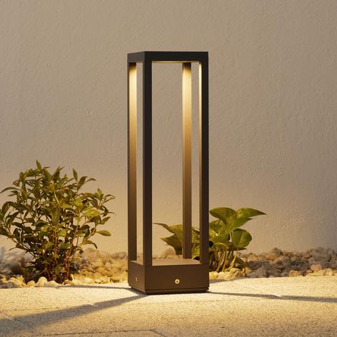 LED-Sockellampe Carlota, dunkelgrau, 50 cm