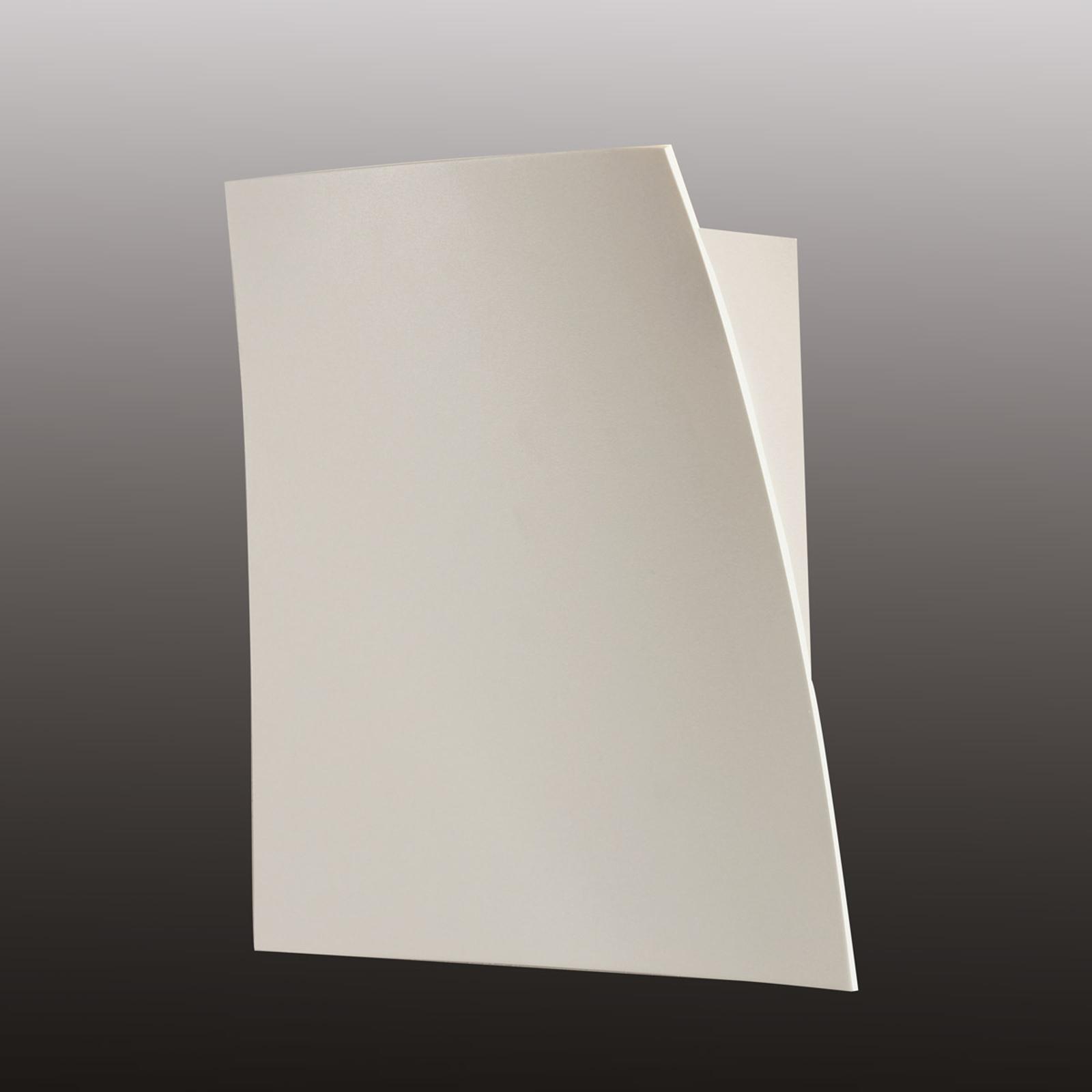 Mat hvid LED væglampe Gap