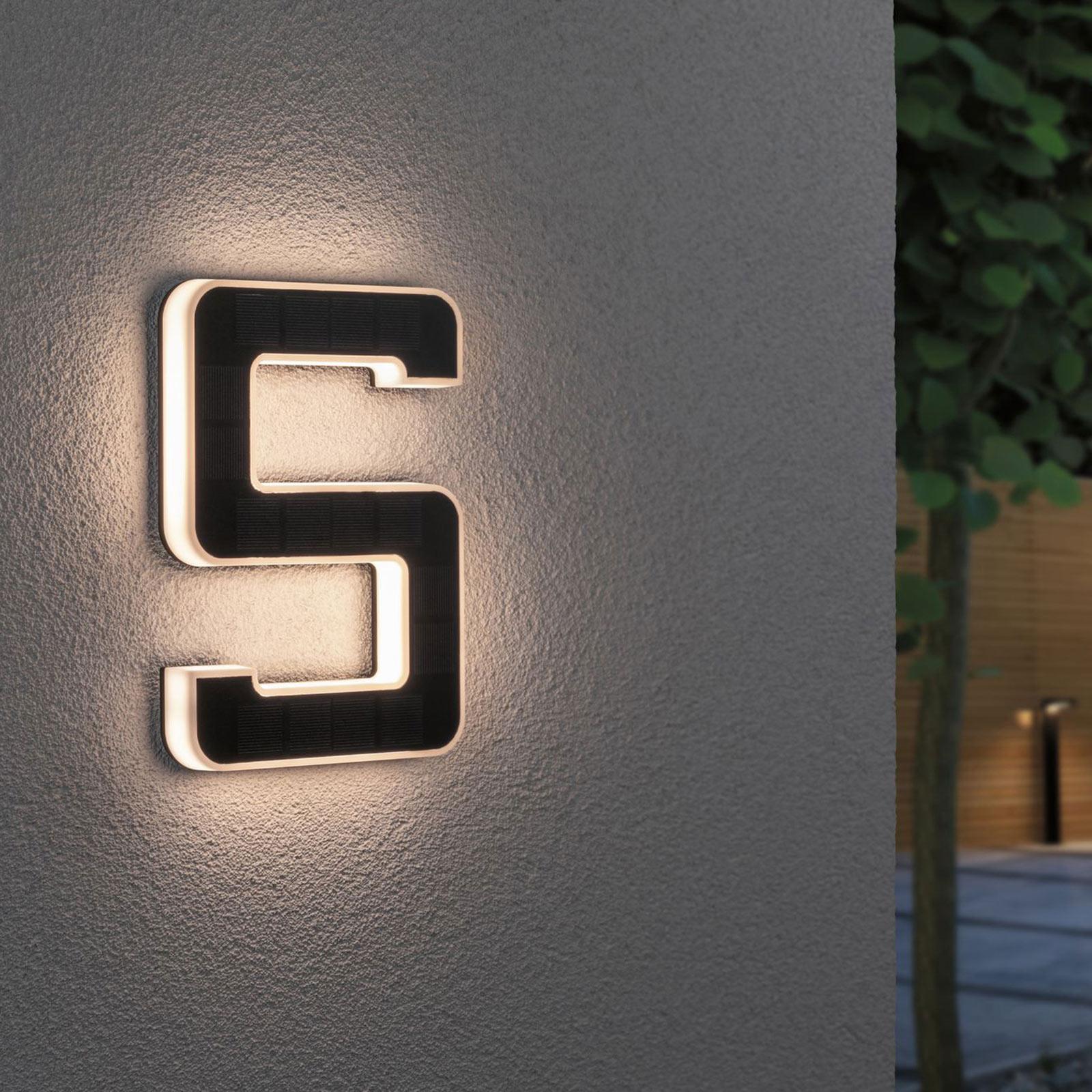 Paulmann LED-sol-husnummer 5