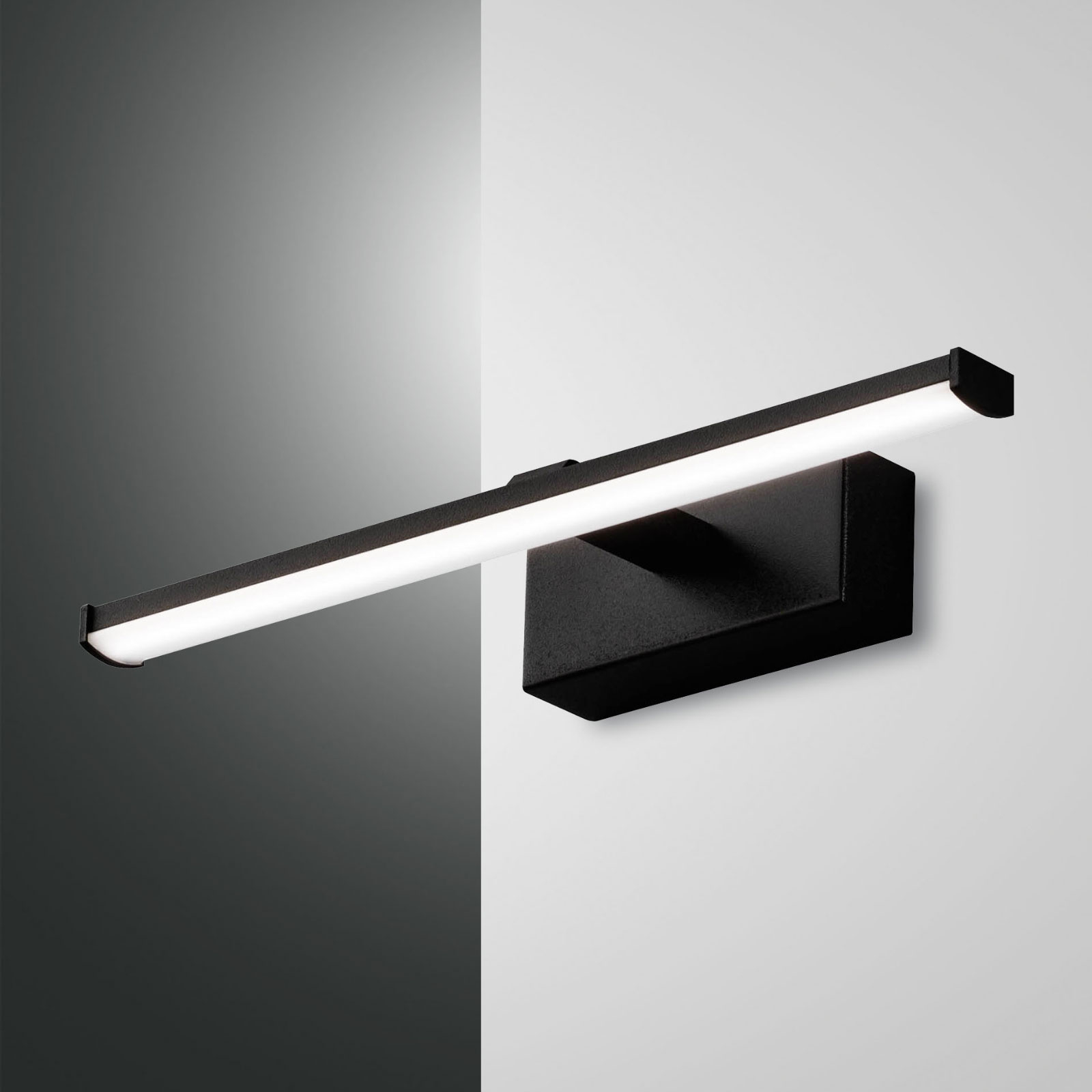 LED-vägglampa Nala, svart, bredd 30 cm