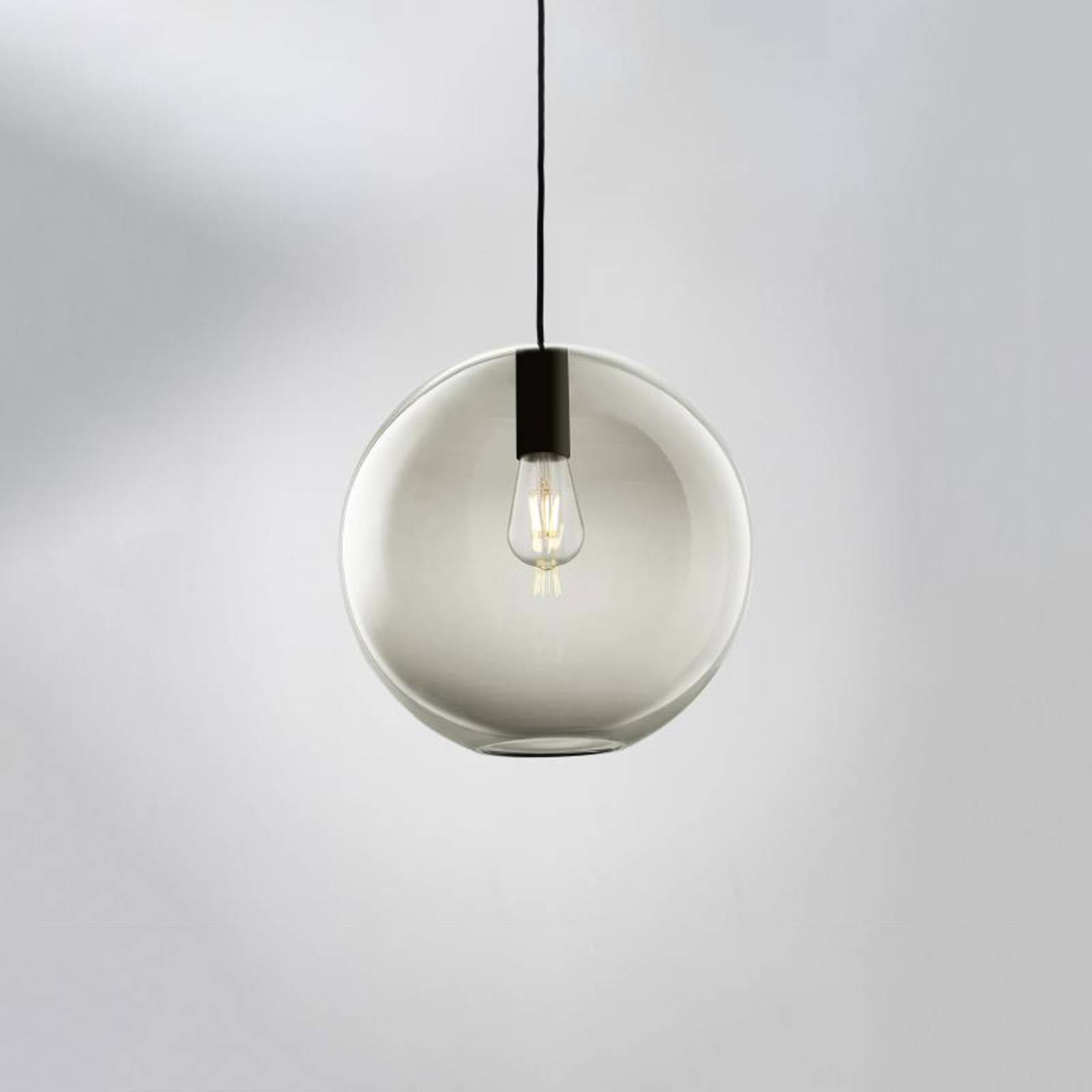LOUM Loon Ball suspension en verre gris, noire