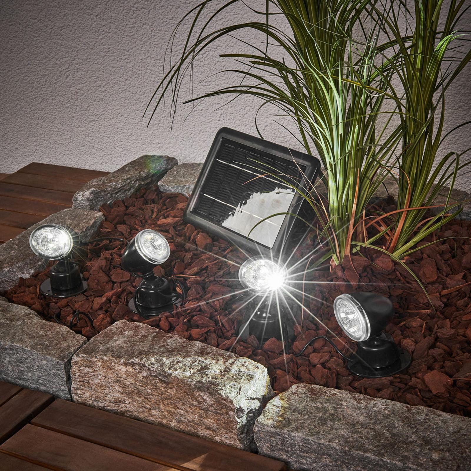 Quattro Power solcellespot-sett