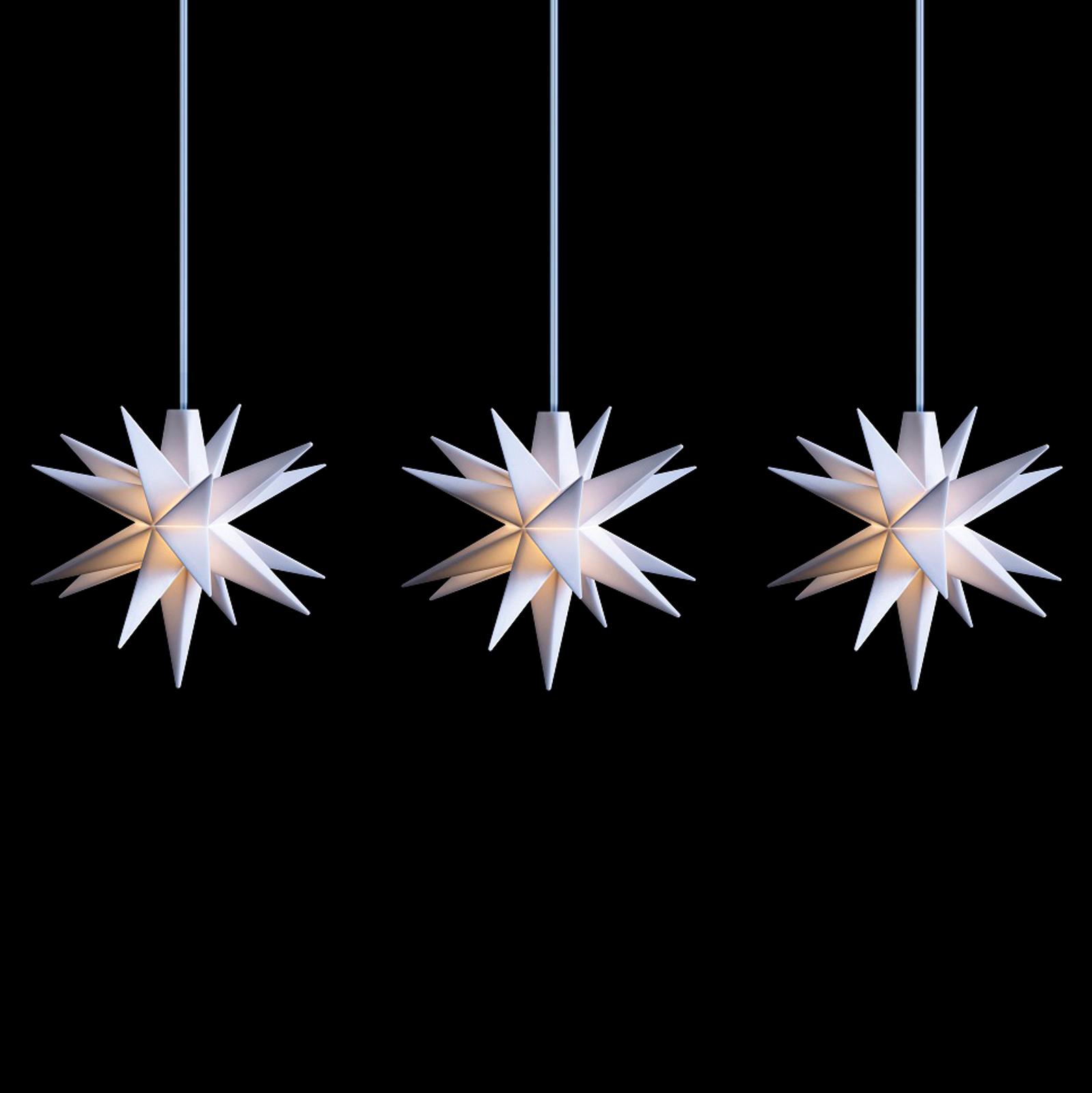 LED-Lichterkette mit Baby-Sternen innen 3-fl. weiß