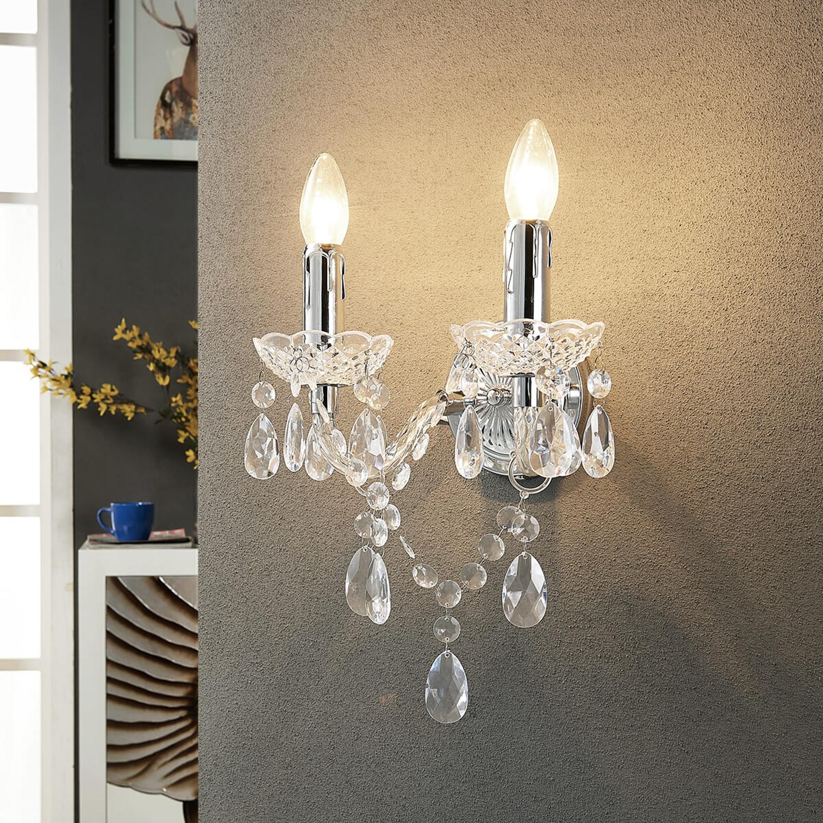 Merida - elegante wandlamp, tweeflammig