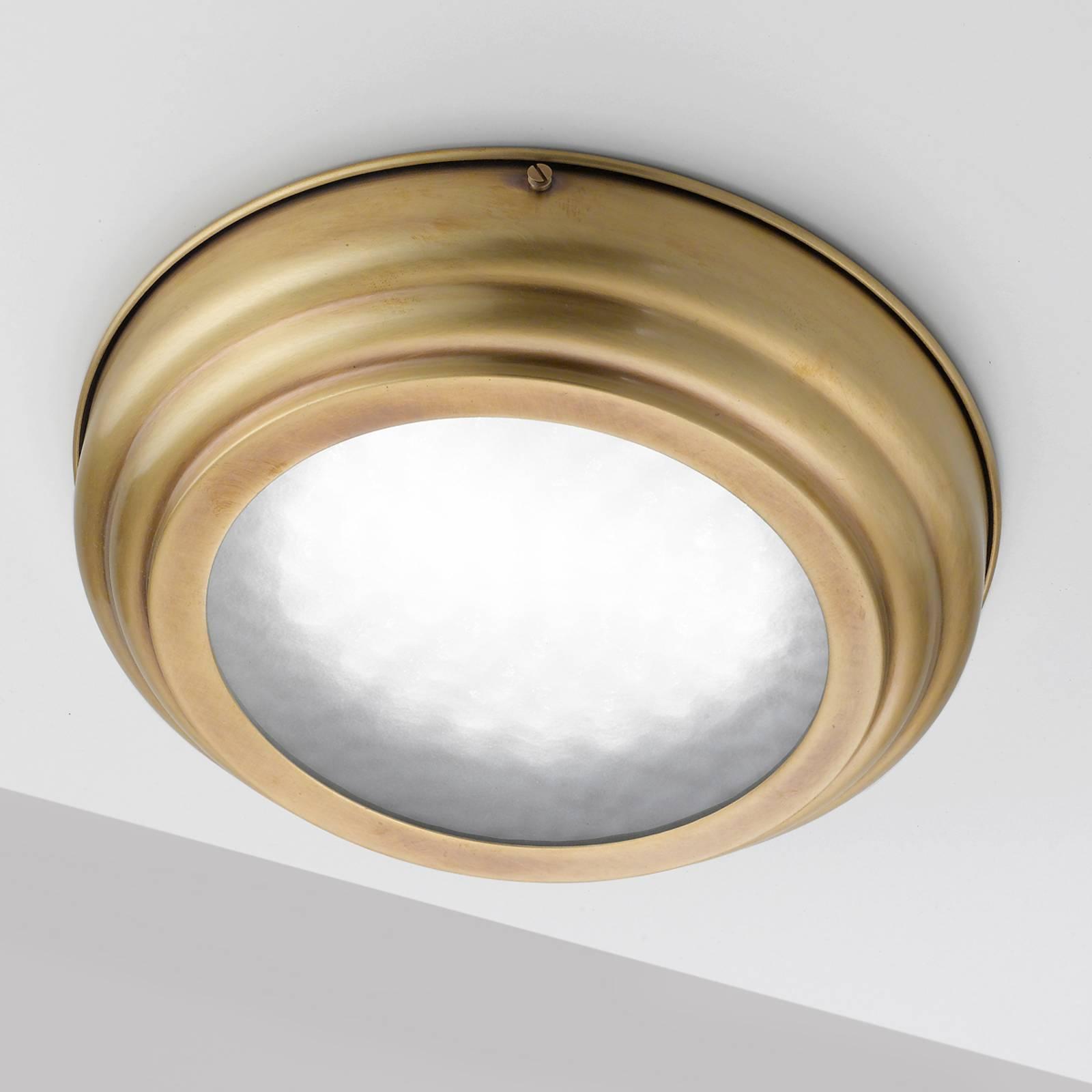 Lampa sufitowa LED Scirocco 39cm, mosiądz