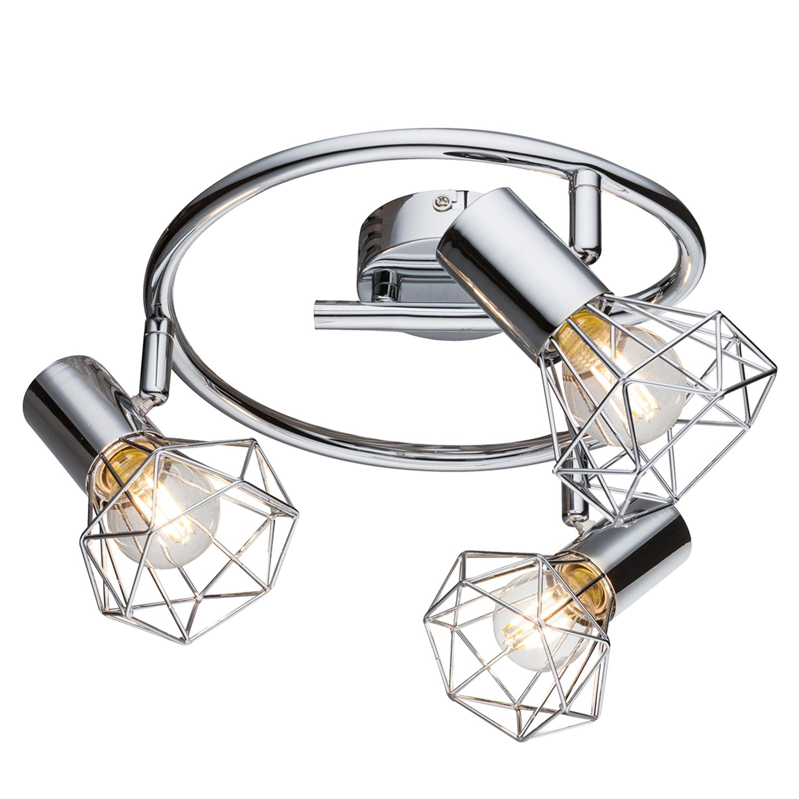 Plafonnier Daiva à trois lampes