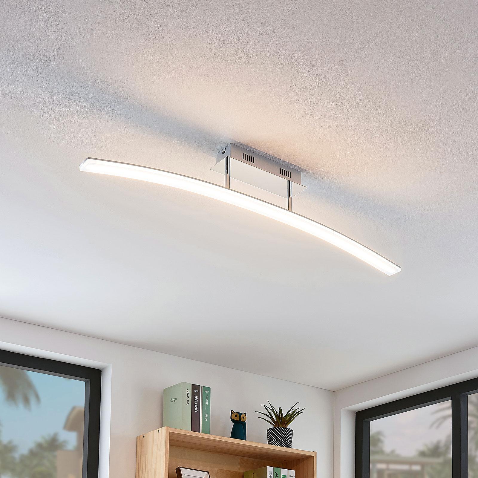 Lampa sufitowa LED Lorian w kształcie łuku