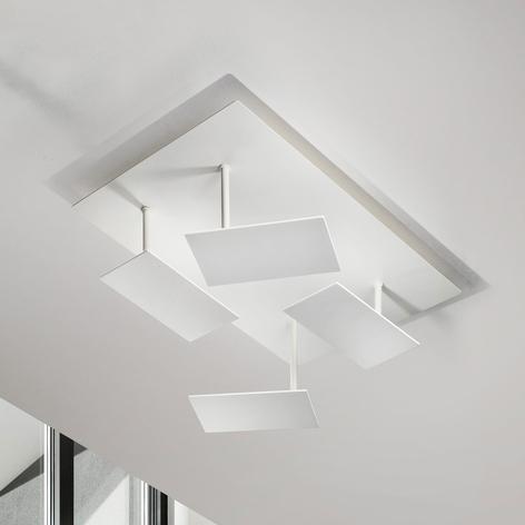 Biała lampa sufitowa LED Time, regulowana