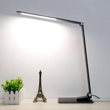 LED stolní lampa Starglass se skleněným podstavcem