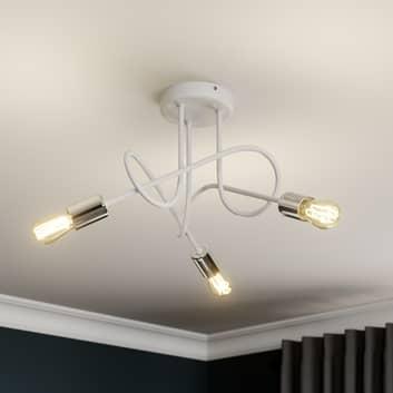 Oxford loftlampe 3 lyskilder, hvid/krom