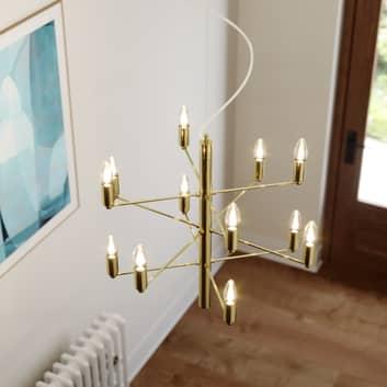 Messingkleurige kroonluchter Tadina, 12-lamps