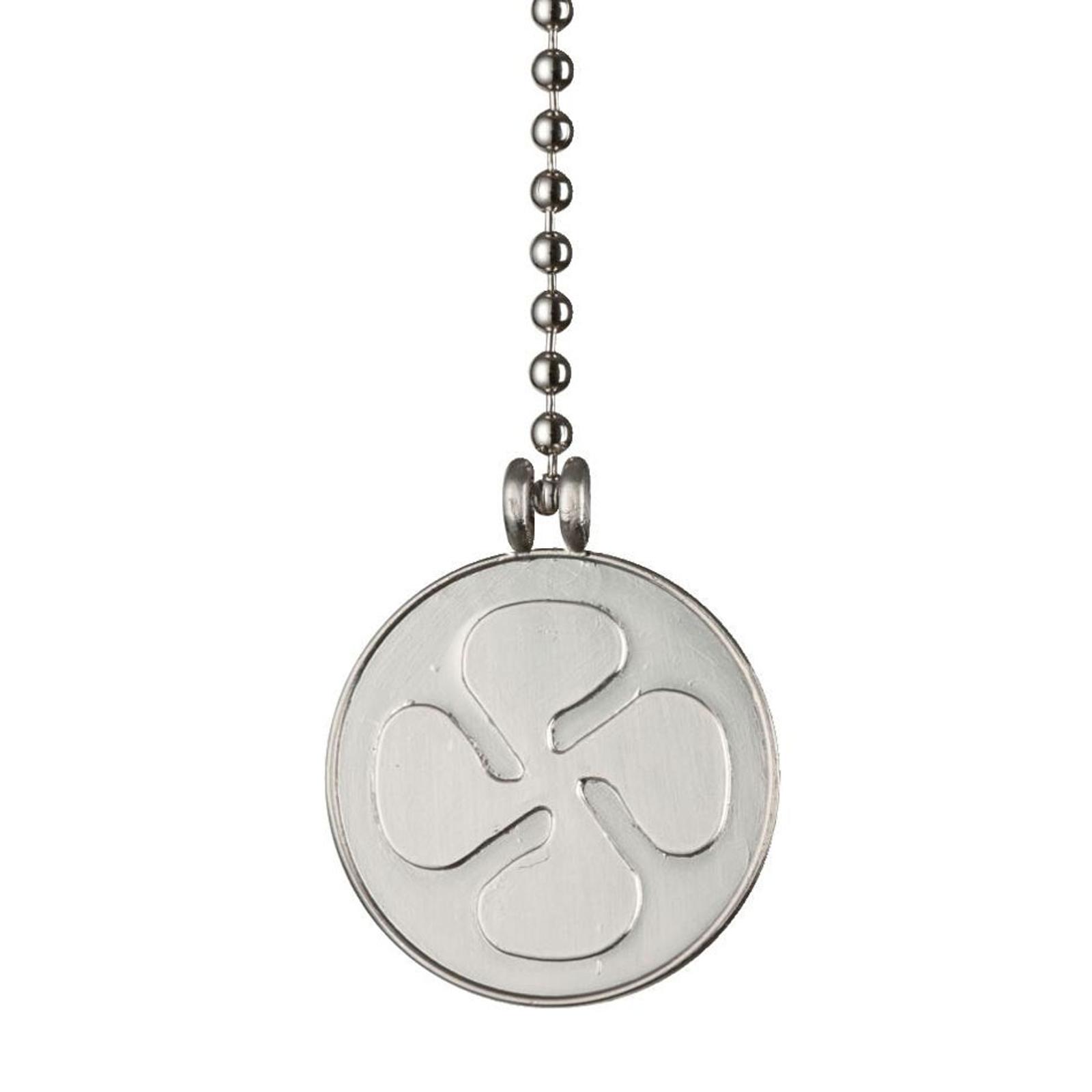 Westinghouse medallón de ventilador cadena níquel